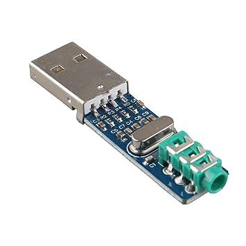 haljia 5 V Mini PCM2704 Tarjeta de sonido Módulo de ...