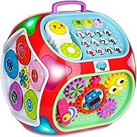 Miric - 7 en 1 Música Cubo de Actividades Juguetes Bebes 1 Año con Sonido, Dados de Aprendizaje de Rompecabezas…