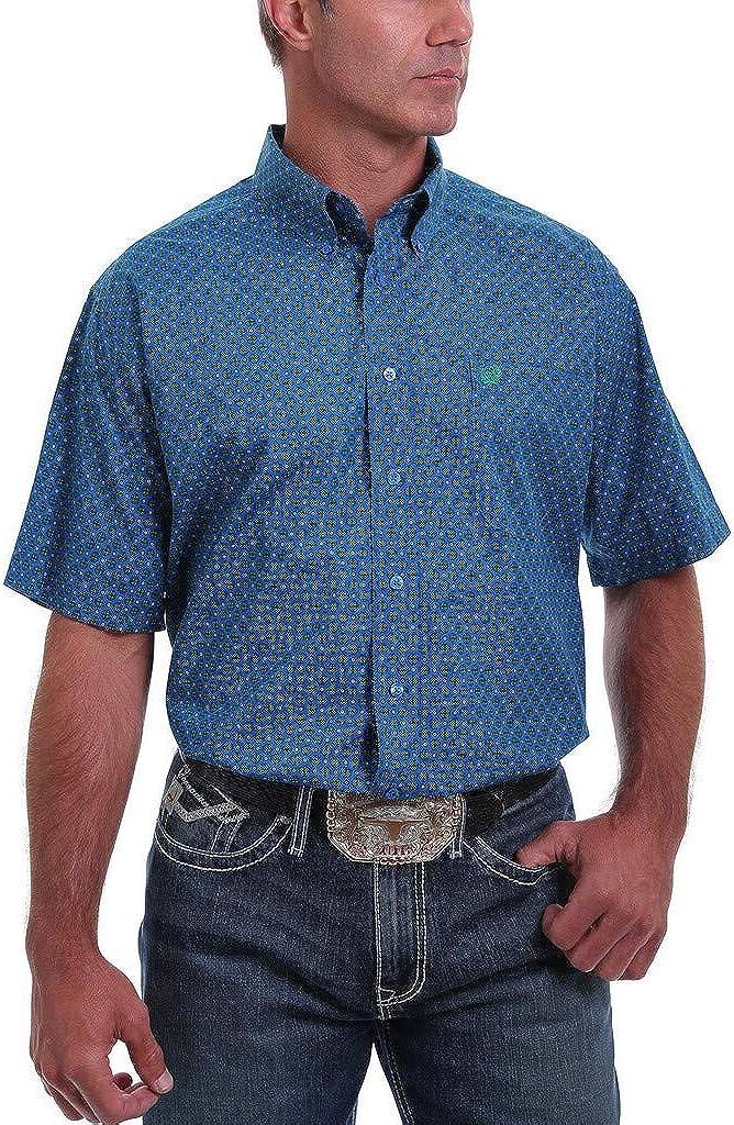 Cinch Mens Classic Fit Short Sleeve Button One Open Pocket Shirt
