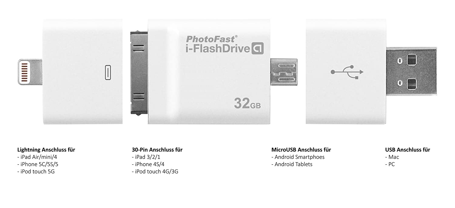 PhotoFast 71946 64GB i-Flash Drive mit Lightning: Amazon.de ...