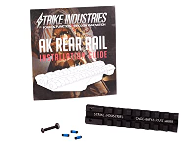 Strike Industries AK Rear Sight Rail For Low Profile Red Dot Optics for AK47 AK-47 AK 47 Rifles