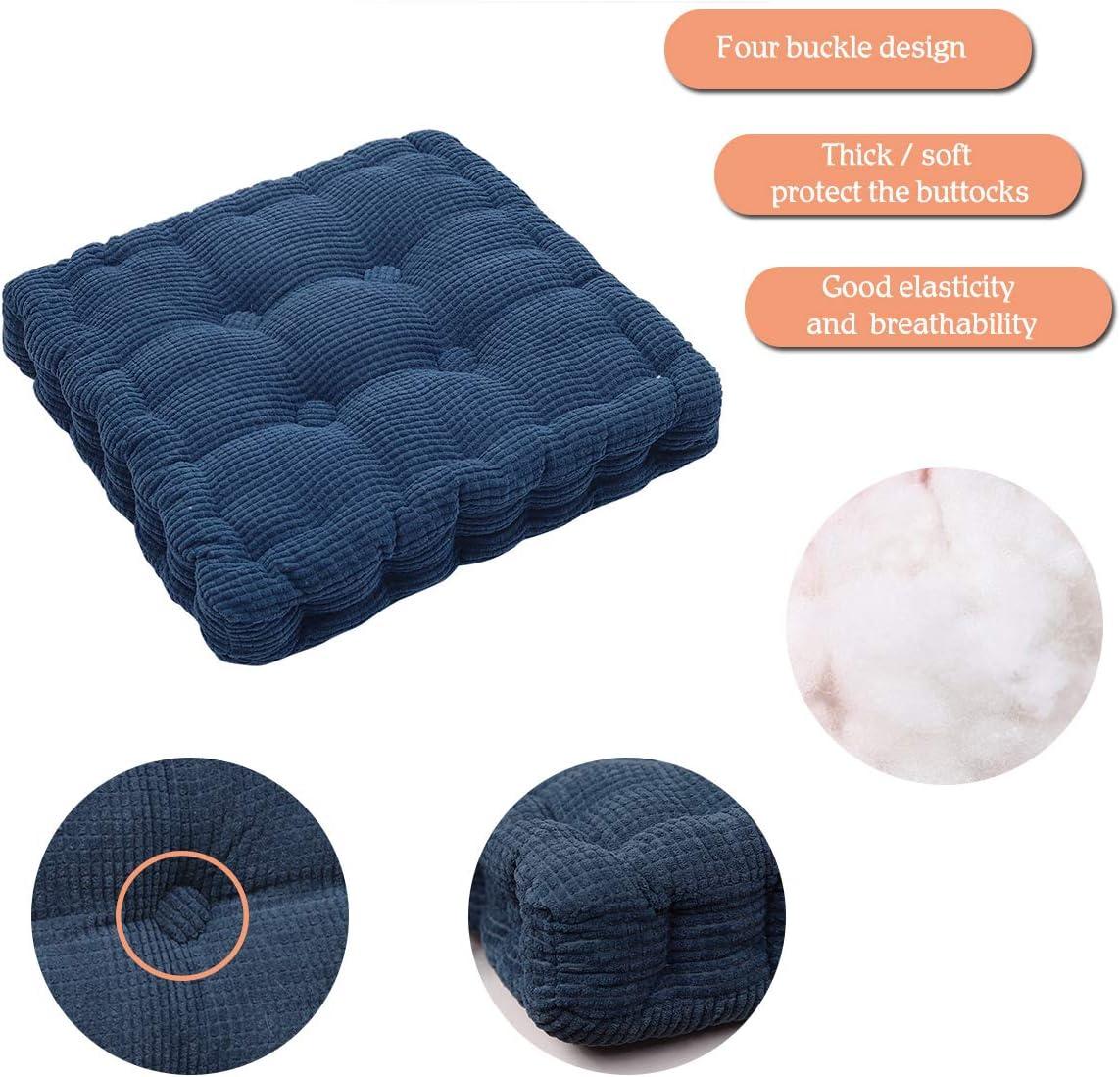 Coussin Chaise Jardin /Épais en Tatami Durable et Comfortable 40 x 40cm Orange HomeMiYN Coussin Rectangulaire Coussin Decoration Chambre