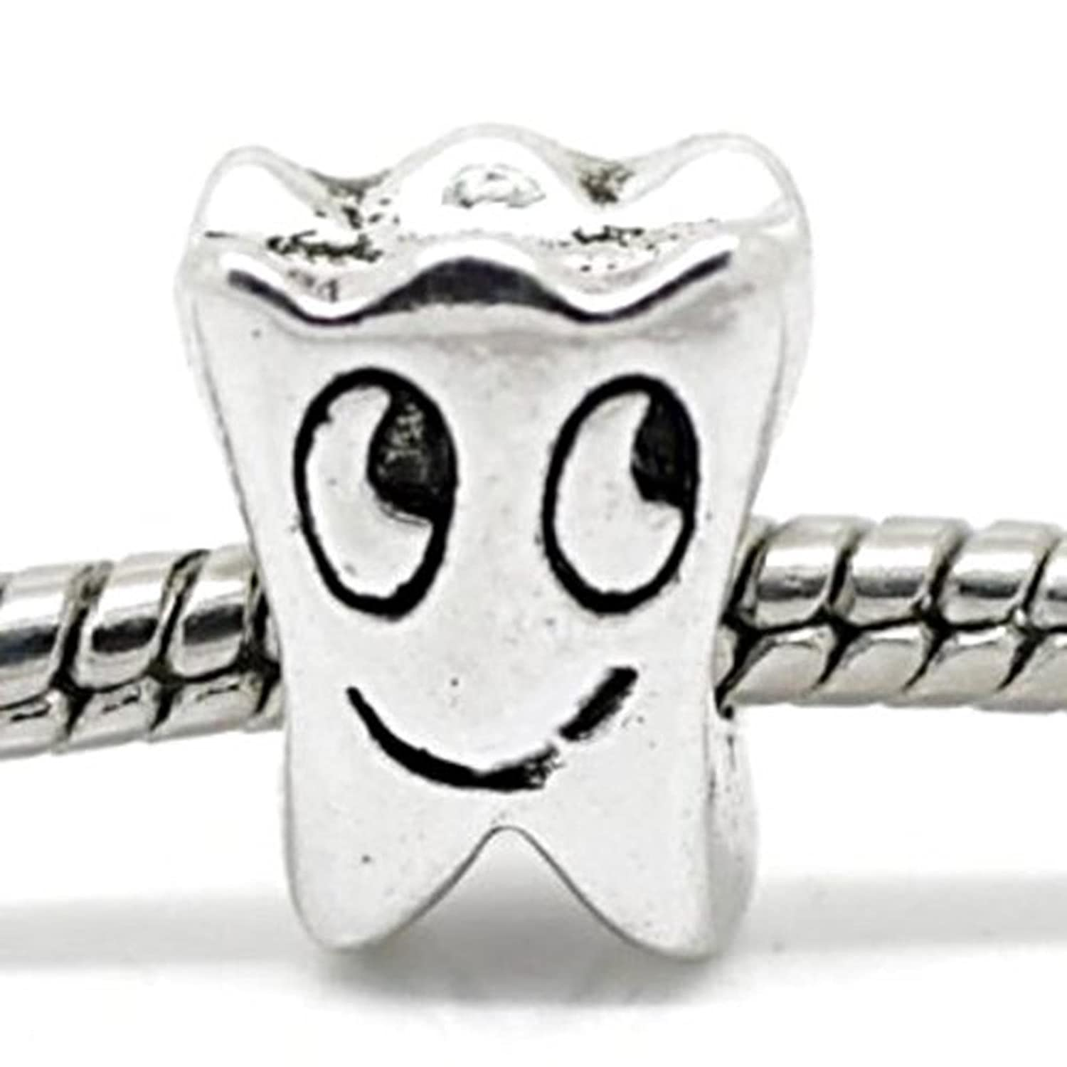 082804008 Amazon.com: Charm Buddy Tooth Fairy Charms Bead Fit Silver Pandora Style  Bracelets: Jewelry