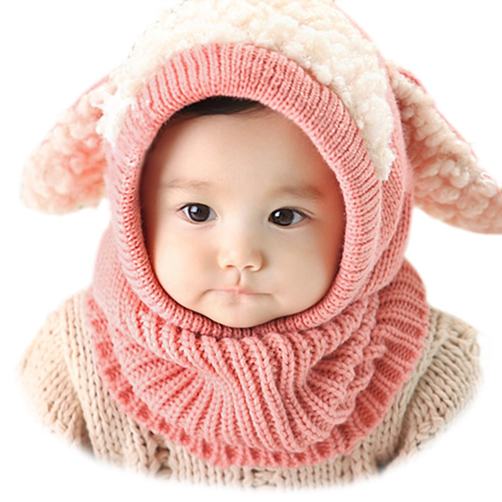 Forart Lovely Baby Girls Boys Winter Hats Scarf Warm Earflap Hood Scarves Caps