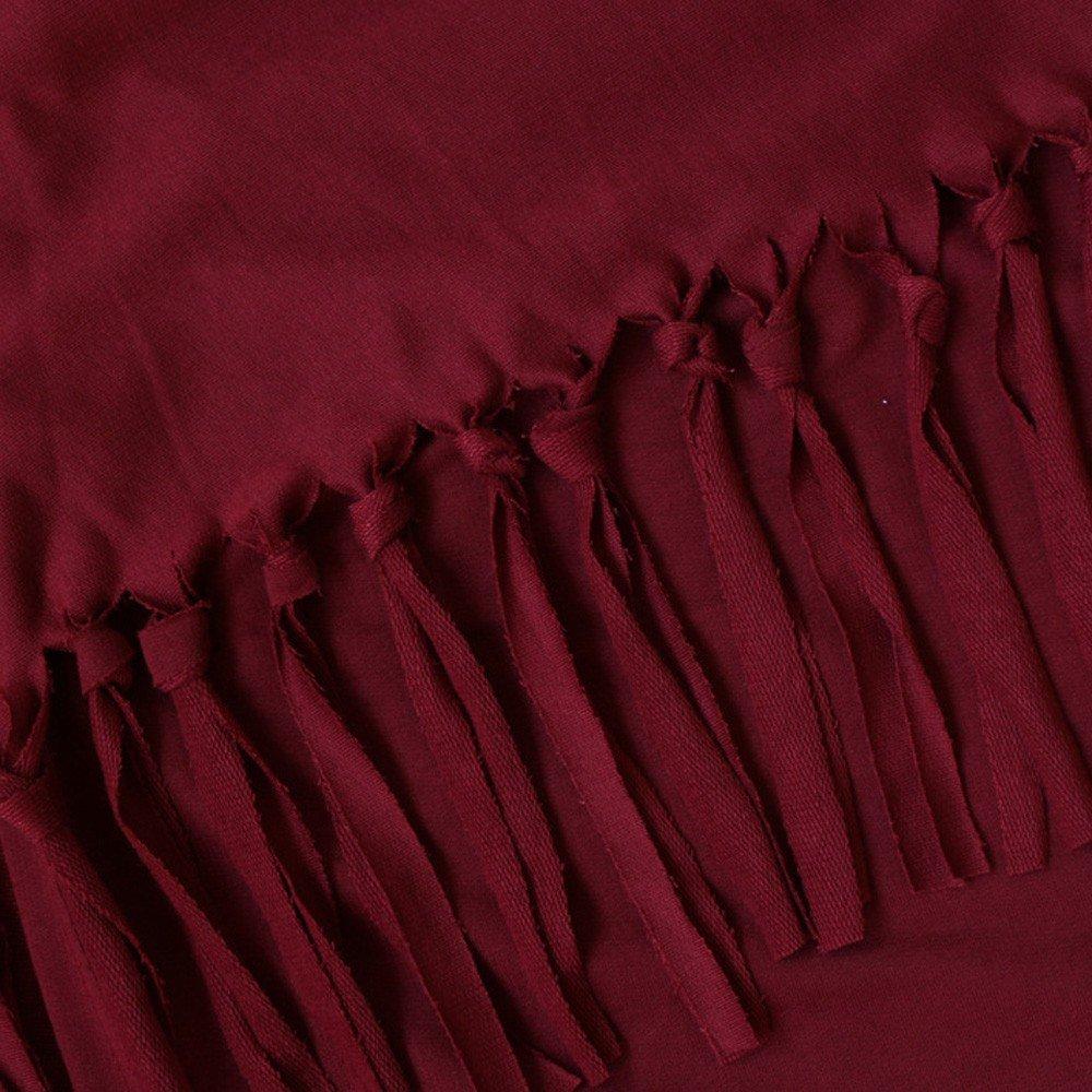 Cardigans Mujer, Irregular Cárdigans de Punto con Cuello Redondo y Mangas largas con borlas de Mujer Blusa Tops Camisa Jersey Cárdigan Kimono Chaqueta ...