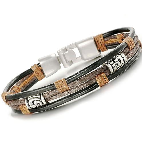 Bracelet avec cordon pour homme