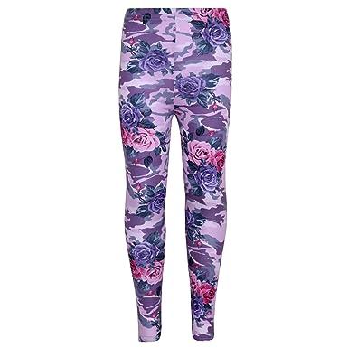 5bf67c33edfa77 Amazon.com: Girls Legging Kids Camo Floral Print Party Dance Fashion Pants  Age 7-13 Years: Clothing