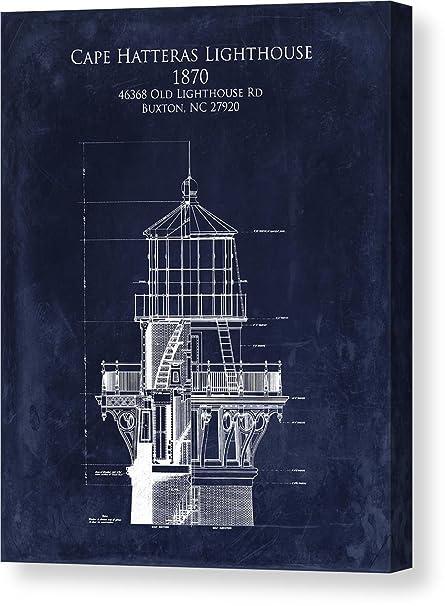 Amazon cape hatteras lighthouse blueprint art print quotcape hatteras lighthouse blueprint art print lighthouse tower blueprintquot by sara harris malvernweather Gallery