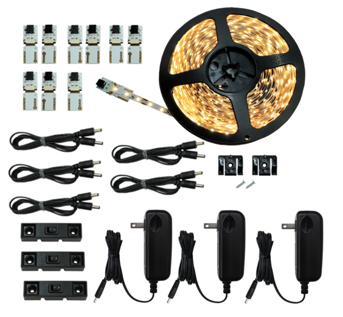 Inspired LED - Light Strip - Cut and Connect Kit - Super Bright Warm White 3000K - 39.5 ft / 12M - Strip Lighting LED - Dimmable led