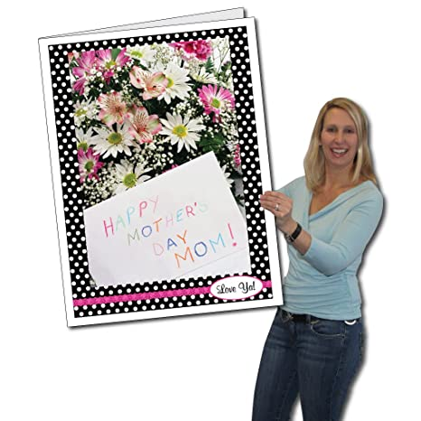 Amazon victorystore jumbo greeting cards giant mothers day victorystore jumbo greeting cards giant mothers day card polka dots 2 m4hsunfo