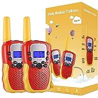 Kearui Juguetes para Niños de 3-8 Años,Walkie Talkie para Niños 8 Canales LCD Pantalla VOX Larga Distancia 3KM,Regalos…