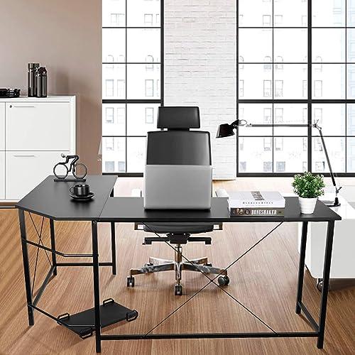 66 inch L Shaped Desk Corner Desk Computer Desk Gaming Desk Student Desk