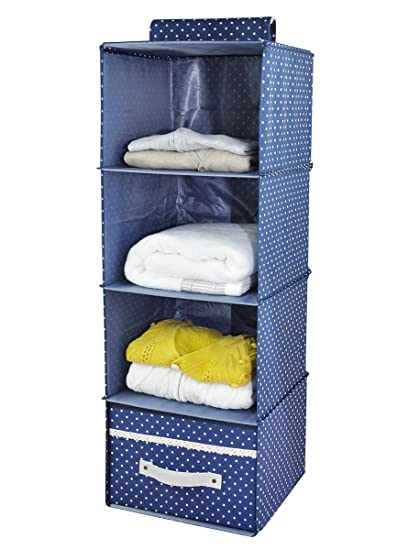Good Iwill CREATE PRO 4 Shelf Hanging Closet Organizer With Drawer, Thick Wooden  Boards Inside