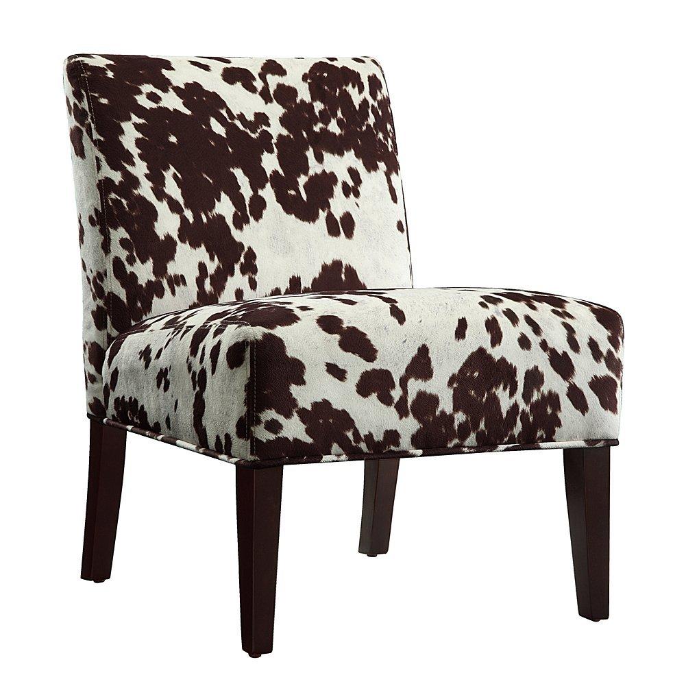 Home Creek Cow Hide Print Lounge Chair