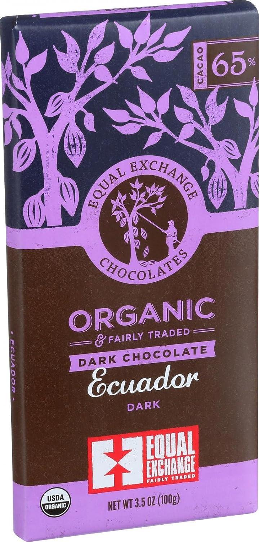 Amazon.com : Ecuador Dark Chocolate Bar 3.5 Oz -Pack of 12 : Candy ...
