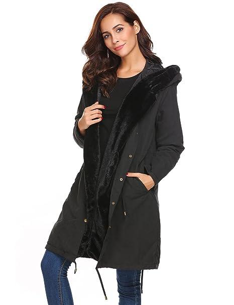 Soteer Mujer Abrigo con capucha Chaqueta gruesa Invierno Chaqueta con  capucha Casual  Amazon.es  Ropa y accesorios cf2ee48163cf