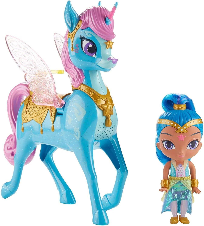 Shimmer /& Shine Shimmer /& Magical Flying Zahracorn Children/'s Play Set BNIB #NG