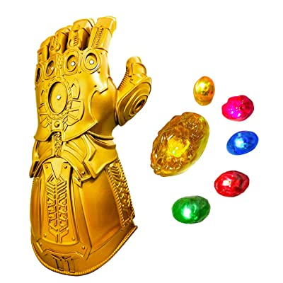 XXF Revenge 4 Infinity Gauntlet Glove, Iron Man Glove LED Light up with Removable Magnet Infinity Stones-3 Flash Mode. (Adult Size): Toys & Games
