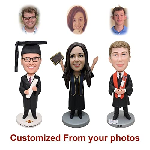 91599f198de4 Custom Bobble head Doll From Head To Toe - Personalized 2018 Doctorate  Graduation Gifts Clay Figurines, Funny Bobblehead The Perfect Commencement  Gift for ...