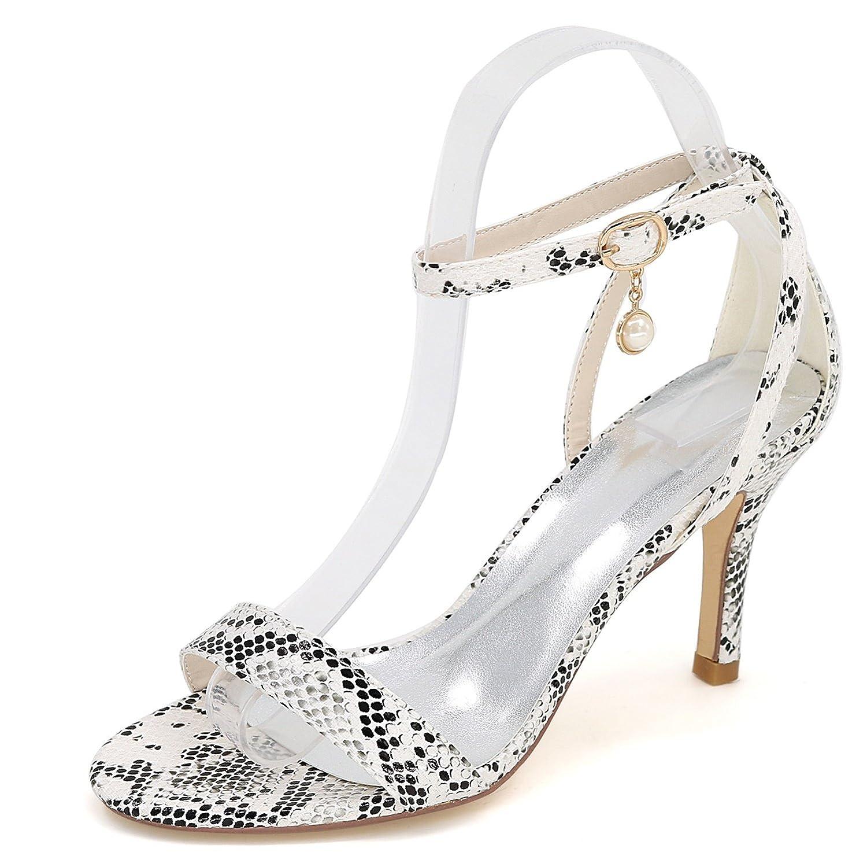 Elobaby Zapatos De Boda De Las Mujeres Bridesmaids Kitten Heels Elegant/8.5cm Heel New 9920-04S Platform 39 EU White