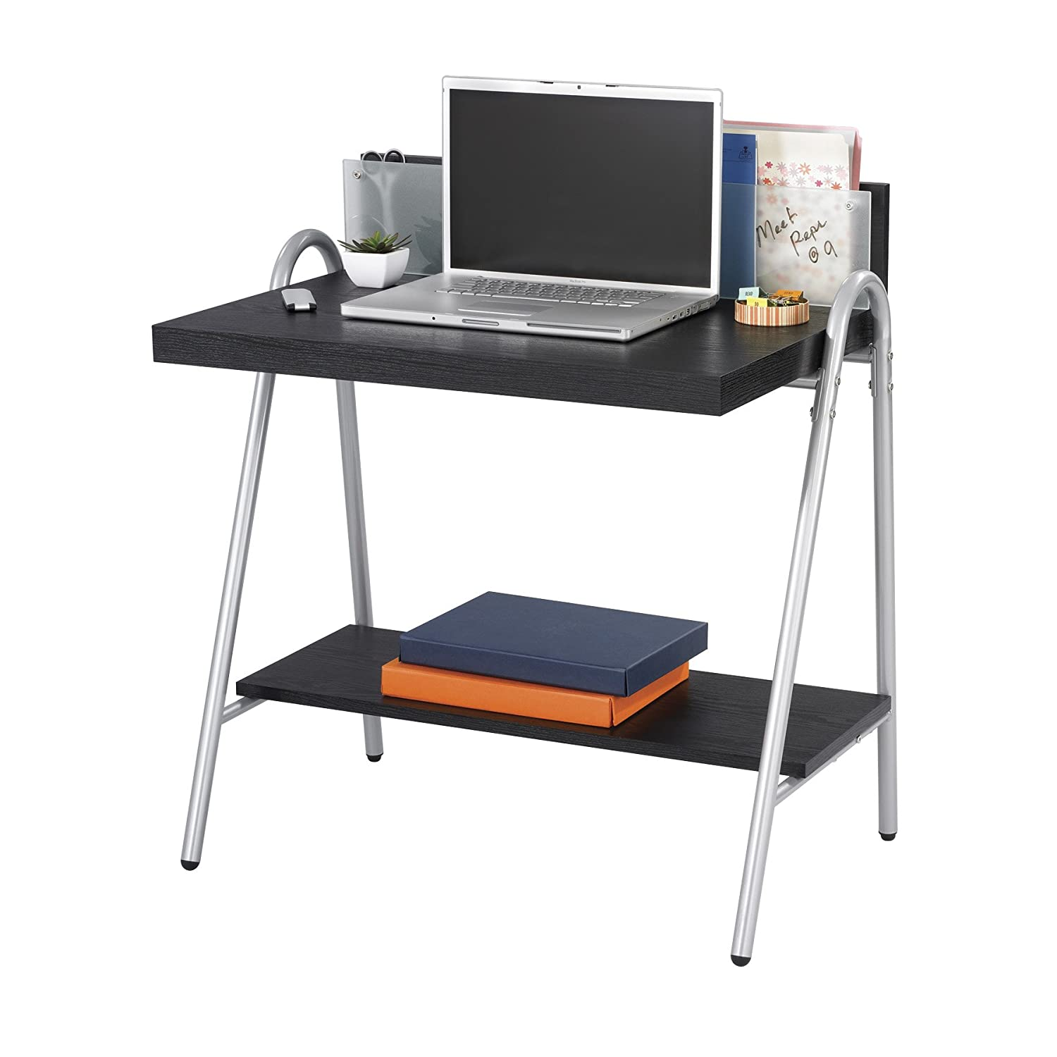 Amazon.com : Safco Products 1939EB Xpressions Glass Back Panel Computer Workstation  Desk, Ebony : Office Workstations : Office Products