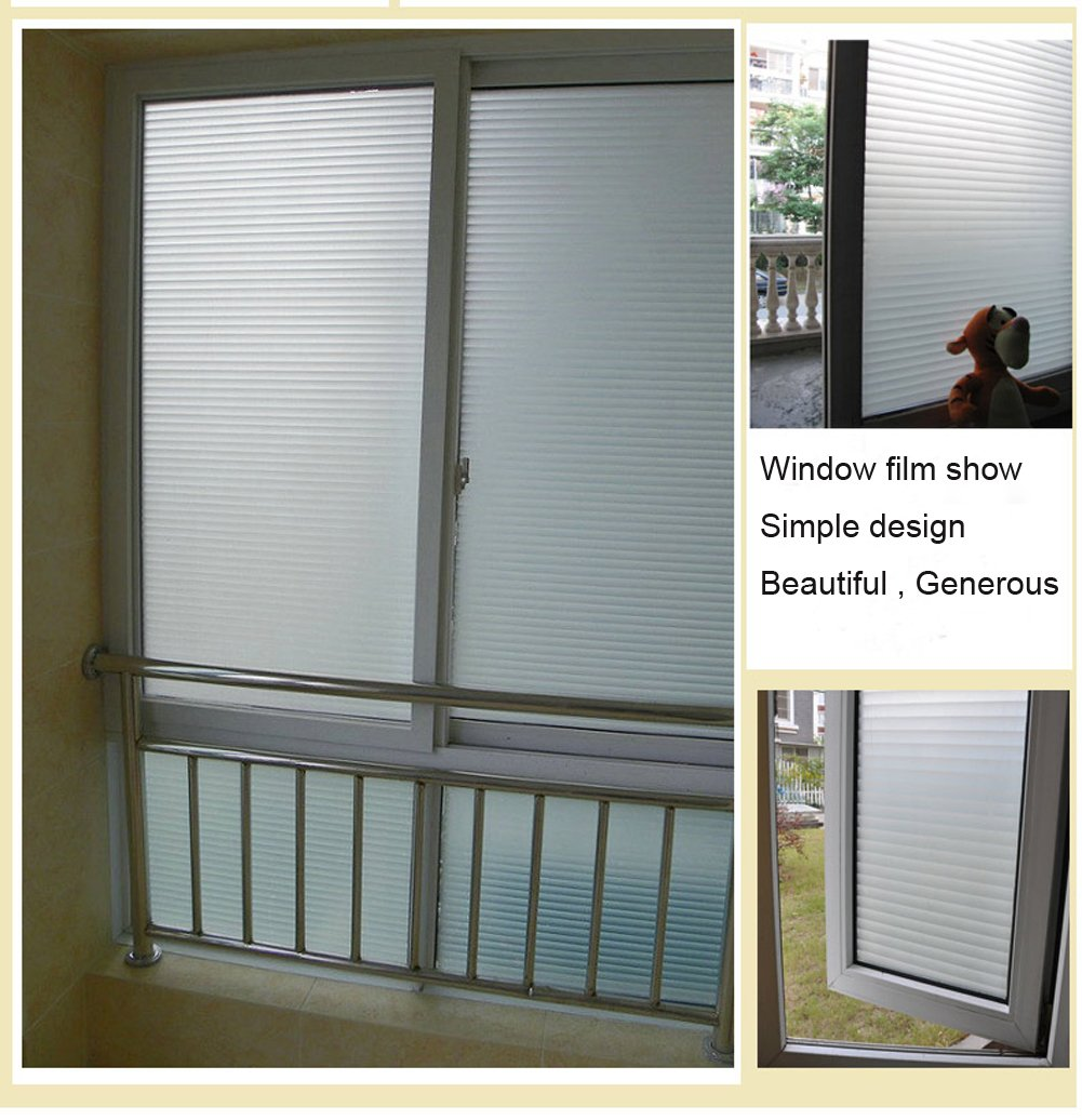 Nicht klebende Fensterfolie als Sichtschutz. Haftet statisch auf ...