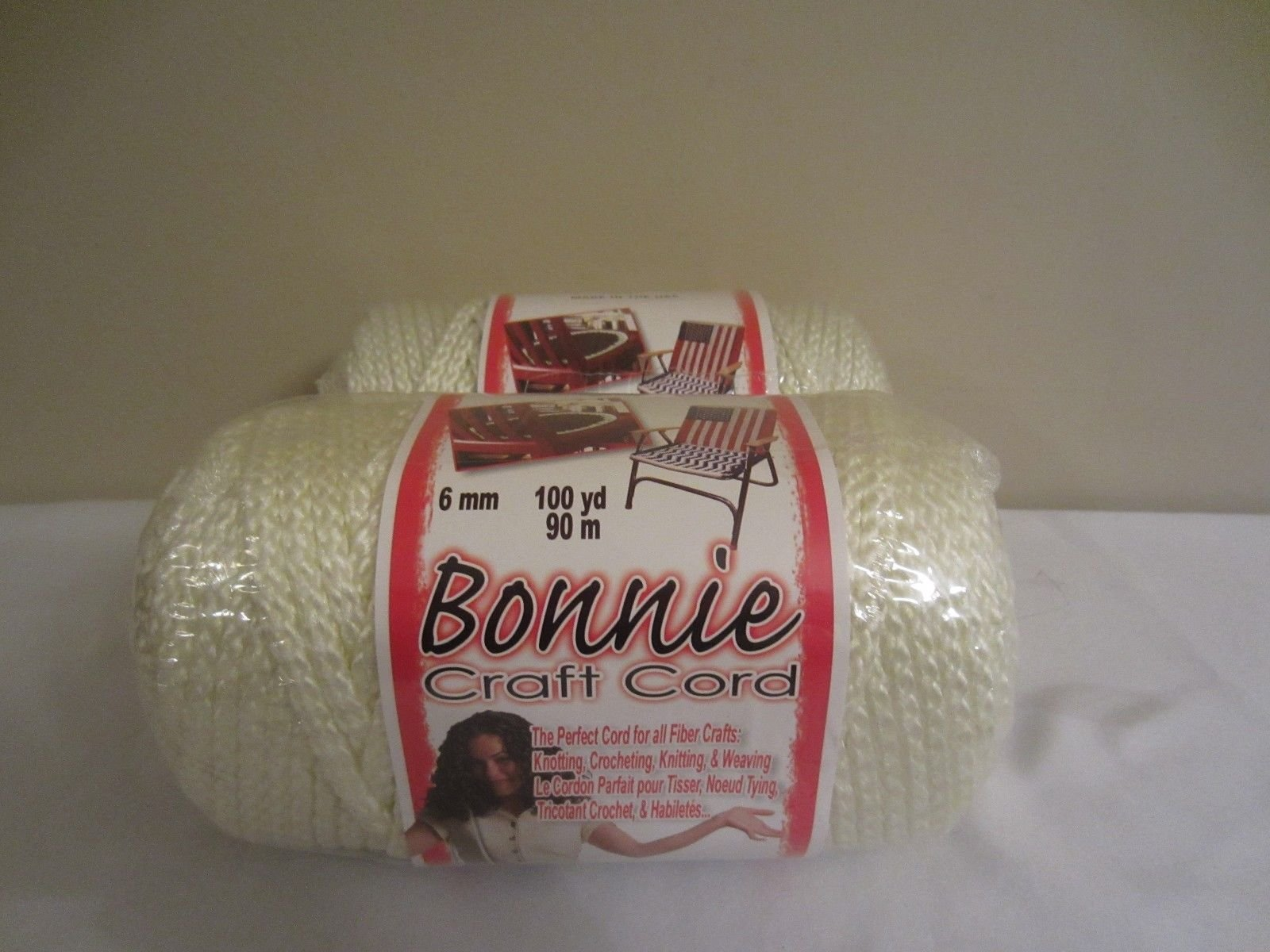 Bonnie Macrame Craft Cord 6mm X 100yd-Ivory