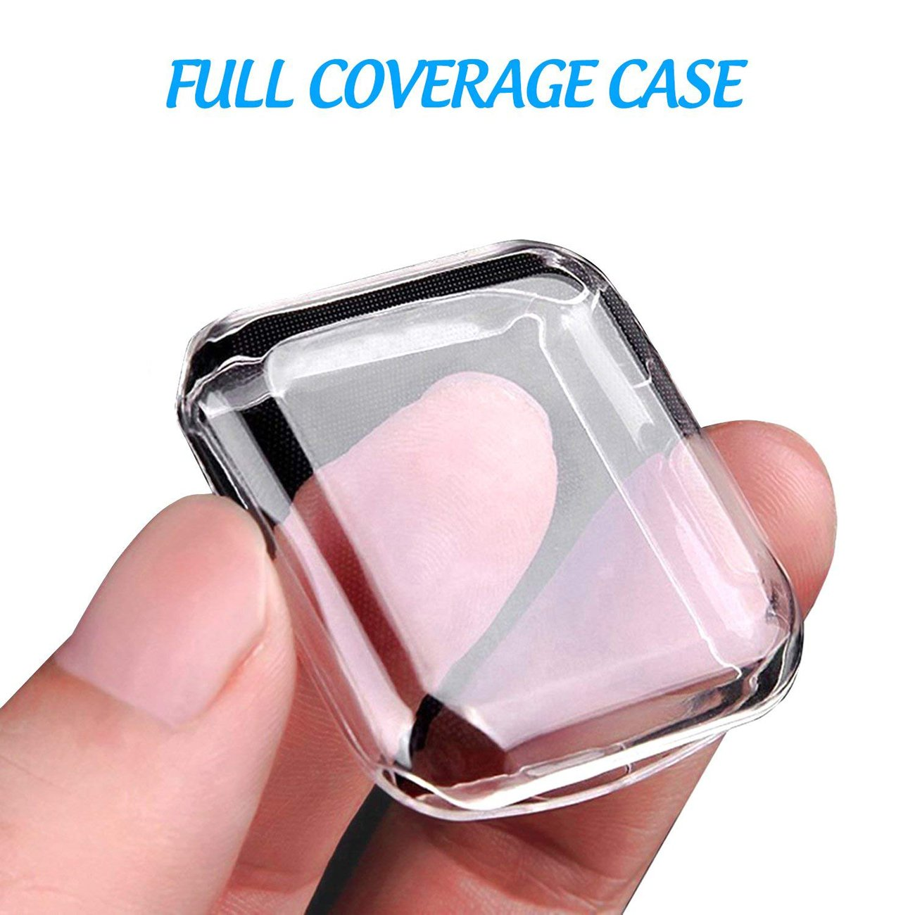 GerTong Soft Silicone TPU Full Cover Case For Fitbit Versa Ultra-thin Soft Plating TPU Protection For Fitbit Versa Protective Shell Frame for Fitbit Versa Smartwatch Clear by GerTong (Image #6)
