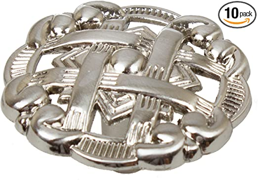 "5745-SN-1 GlideRite 1-3//8/"" Celtic Medallion Cabinet Hardware Knob Satin Nickel"