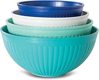product image for Nordic Ware Prep & Serve Mixing Bowl Set, 4-pc, Set of 4, Coastal Colors