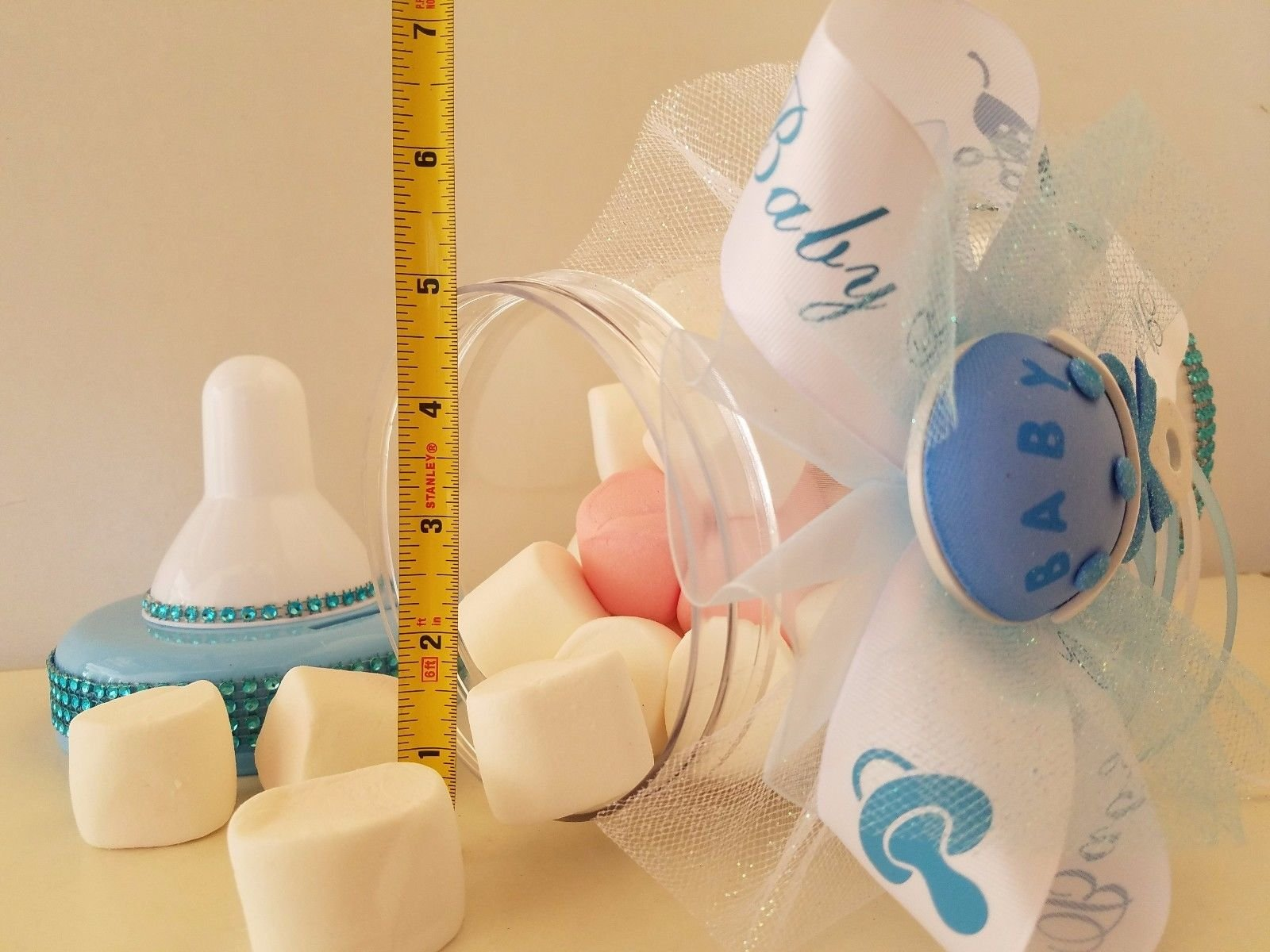 Baby Shower Centerpiece Fillable Bottle Large 12'' Rattle Bank Table Decorations by Product789 (Image #2)