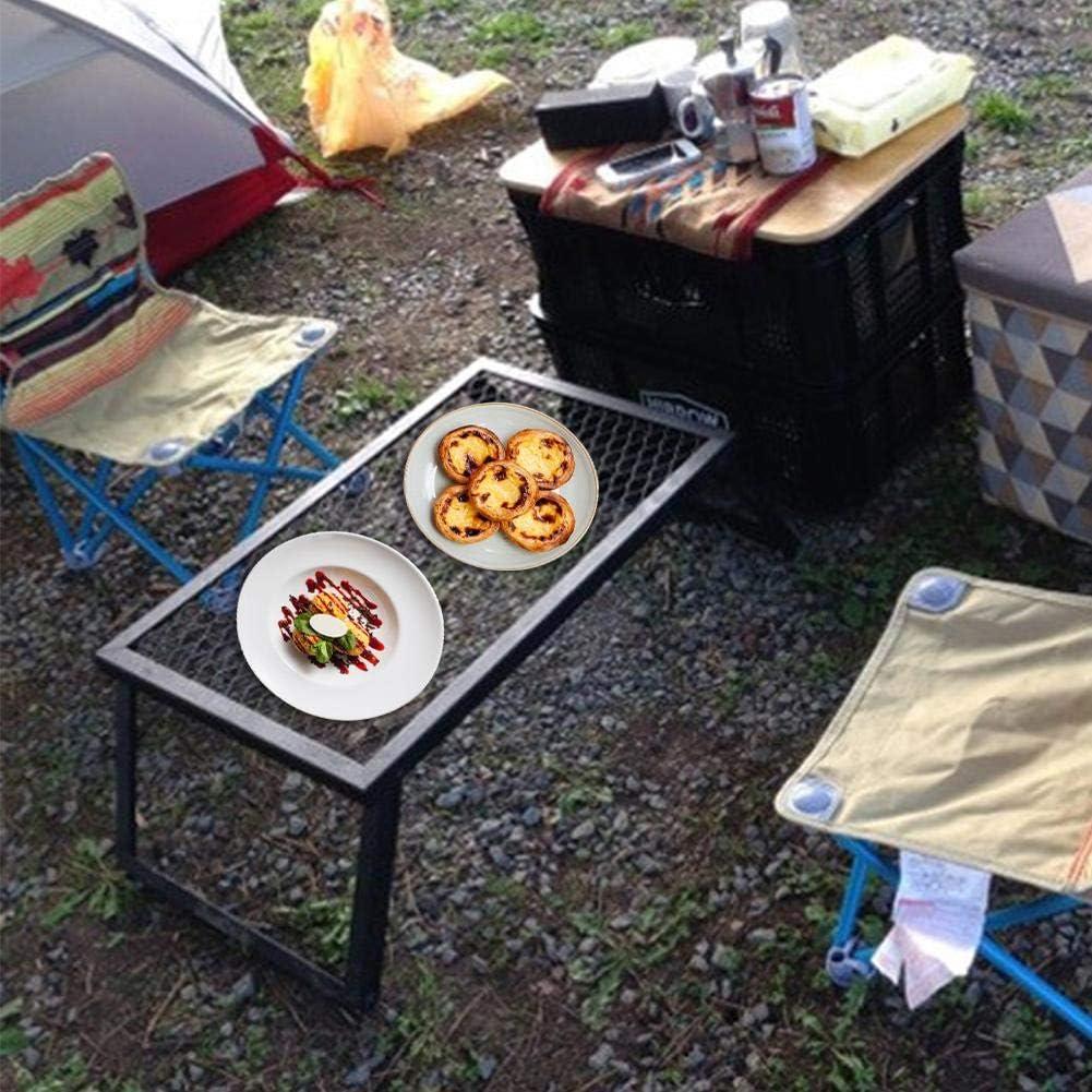 Pictury Tragbarer zusammenklappbarer Lagerfeuergrill Hochleistungs-Campinggrill mit Beinaufbewahrungsgestell f/ür Camping im Freien