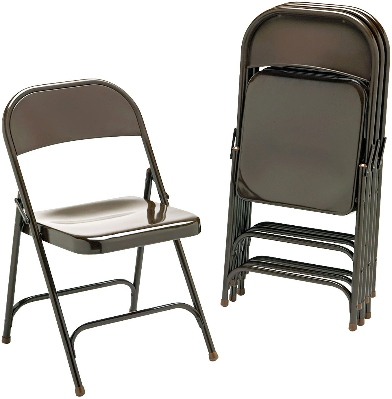 Bon Amazon.com: Virco 16213K Metal Folding Chairs, Bronze, Four/carton: Kitchen  U0026 Dining