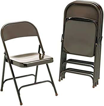 metal folding chairs mocha four carton padded fritz chair cover rentals buy used