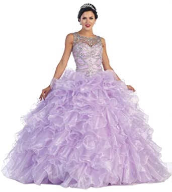 Layla K LK68 Prom Queen/Quinceanera Formal Ball Gown (2, Lilac)