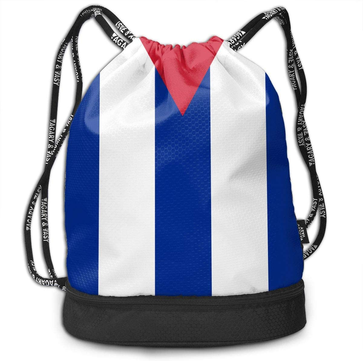 Drawstring Backpack Cuba Flag Rucksack