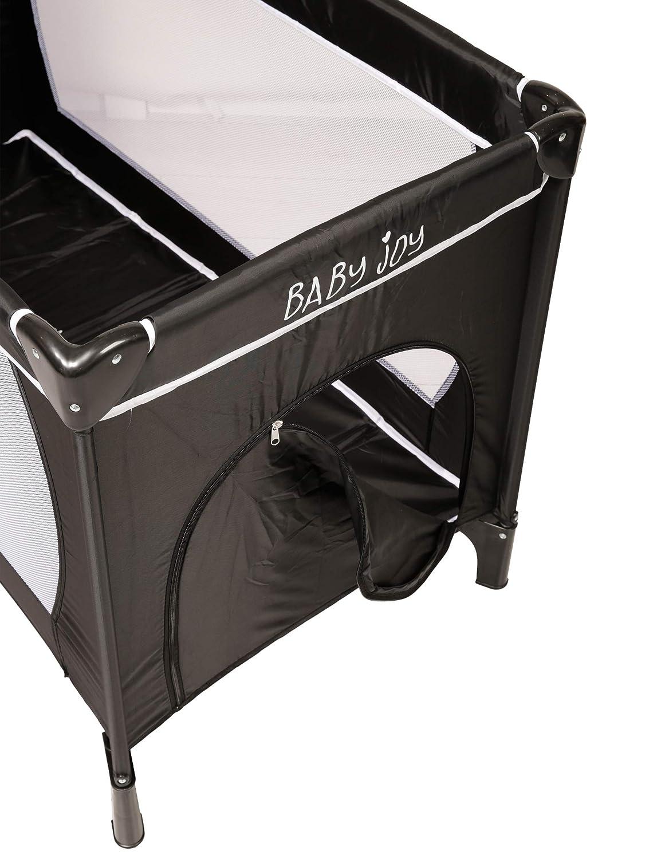 Baby Joy Portable Folding Kind Baby Gro/ße Reise Kinderbett Krippe Bett Laufstall Grau