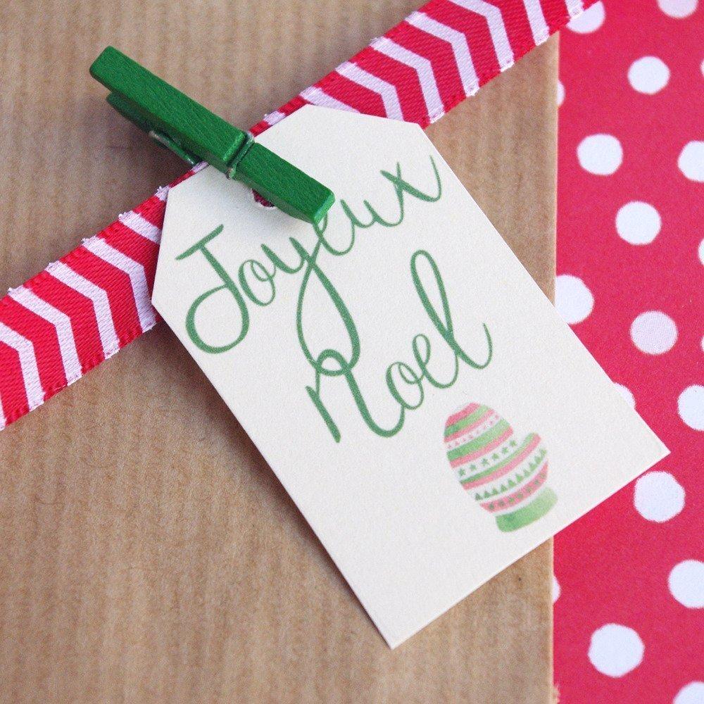 20 étiquettes joyeux noël étiquette cadeau fantaisie emballage cadeau décoration de Noel