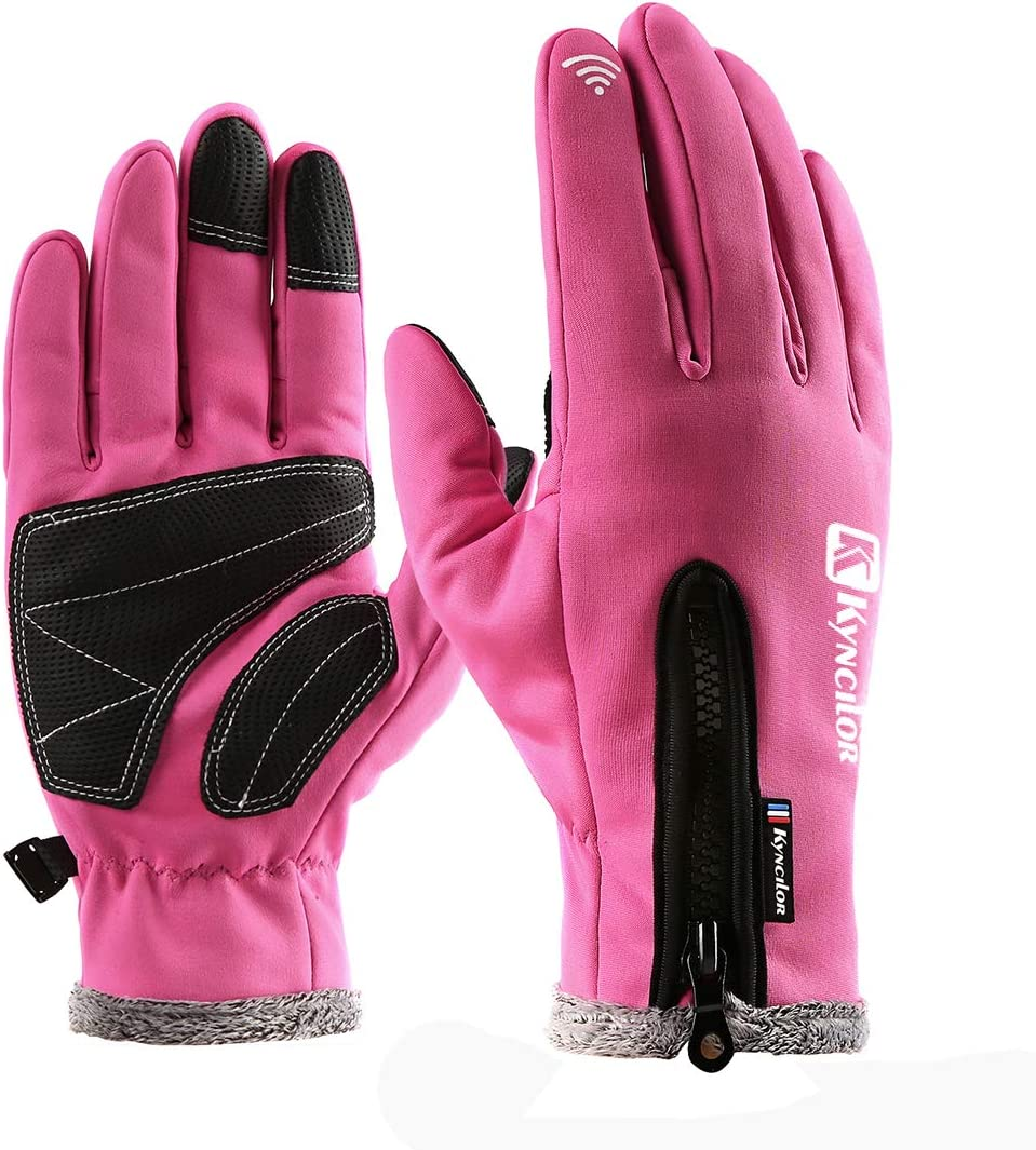Artynes Cycling Gloves,Bike Gloves Winter Thermal Warm Full Finger Outdoor Glove Touch Screen: Amazon.es: Deportes y aire libre