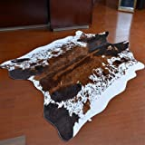 JACCAWS Natural Pattern Tricolor Faux Cowhide Rug