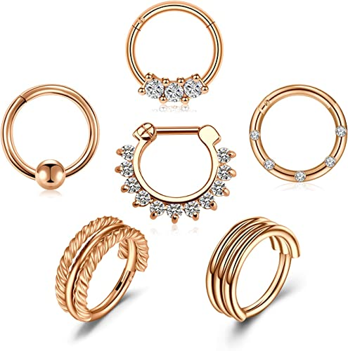 tragus ring Gold septum teardrop earring helix hoop Gold septum piercing Helix earring rook, septum ring Gold cartilage earring