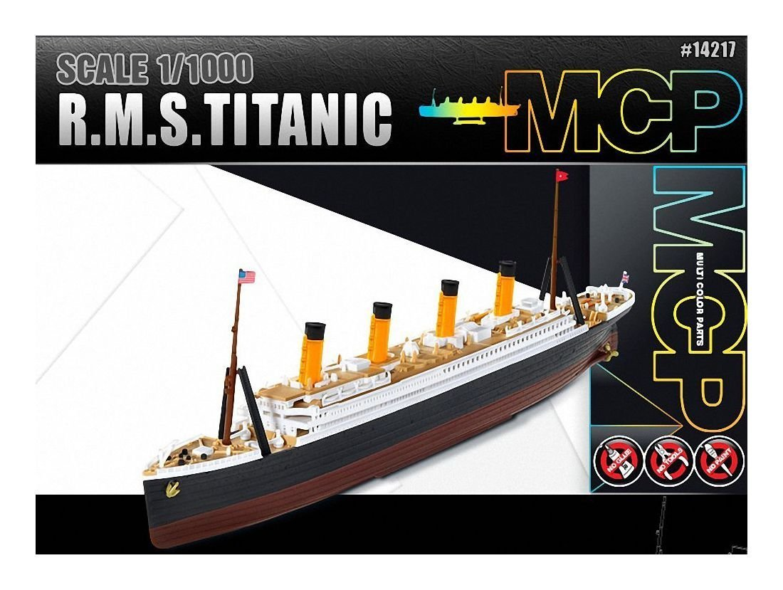 amazon com 1 1000 academy r m s titanic mcp multi color parts