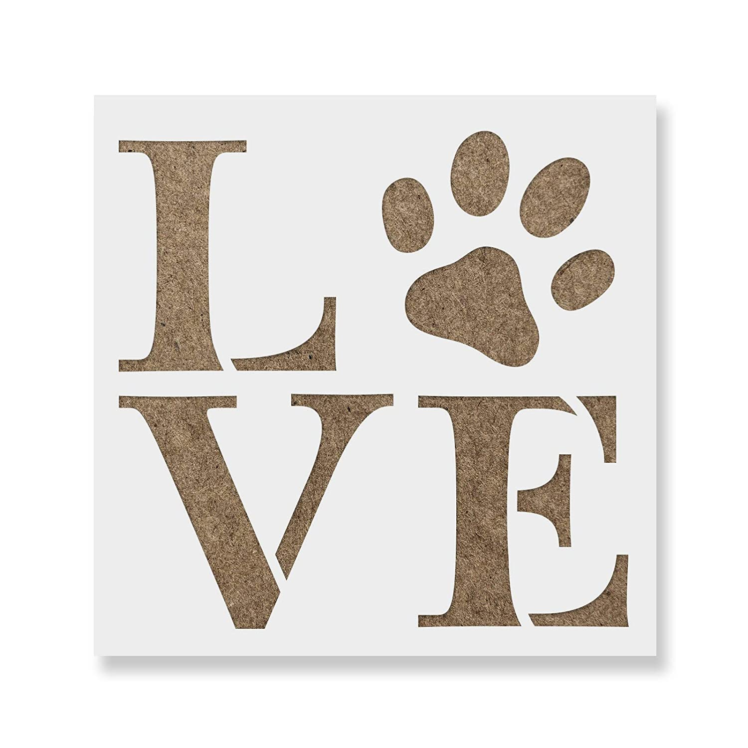 Love Pet Stencil Template for Walls and Crafts - Reusable Stencils for Painting in Small & Large Sizes Stencil Revolution