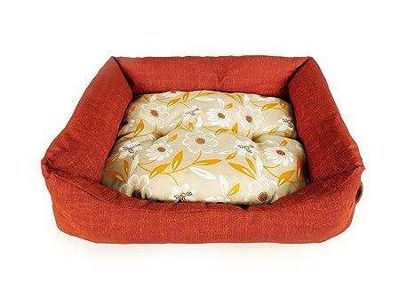 Carbone cama para perros Domino – 65 x 80 cm – Óxido Rojo