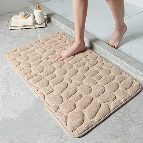 DECORUS Memory Foam Bath Mat Premium Floor Rug Water Absorbent Bath Mat Soft and Comfortable for Bathroom Floor Carpet Not Slip Bath Rugs Cozy Machine Washable