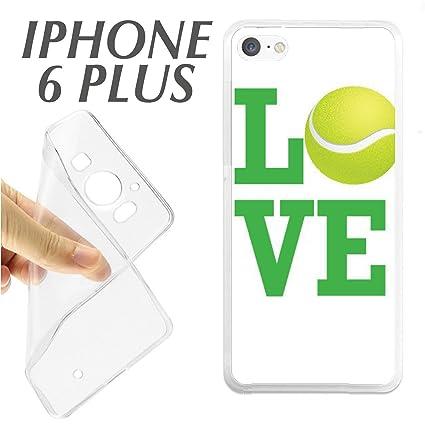 J348 IPHONE 6 PLUS 6+ CARCASA FUNDA TPU PELOTA TENIS BOLA PADEL LOVE DEPORTE