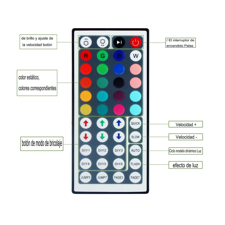 ALED LIGHT® Tiras de Luz LED 5050 SMD RGB, 5M de Longitud Multicolor ...