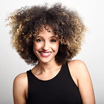 Amazon Ombre Blonde Afro Wigs For Young Black Woman Afro Kinky