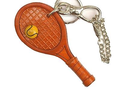 Raqueta de tenis bolso de piel auténtica/llavero con muñeca ...