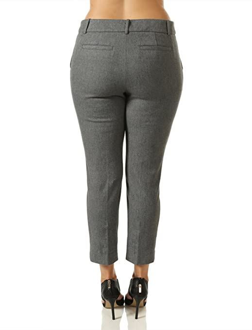 19f88be6a8efd 7Encounter Women s Plus Size Tweed Grey Ankle Pants size 24 at Amazon  Women s Clothing store